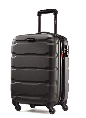 "Samsonite Omni Expandable Hardside PC Luggage With Spinner Wheels 20"" Black"