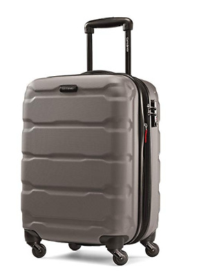 "Samsonite Omni Expandable Hardside PC Luggage With Spinner Wheels 20"" Silver"