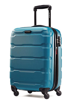 "Samsonite Omni Expandable Hardside PC Luggage Spinner Wheels 20"" Caribbean Blue"