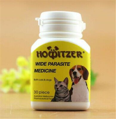 HOWITZER 30tabs Cat&Dog Worming tablets - Wormer Dewormer Panacur Canine