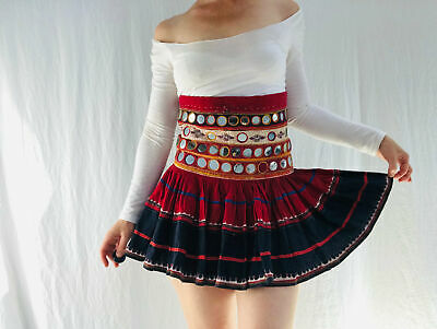 Vintage Banjara Mirror Mini Skirt.