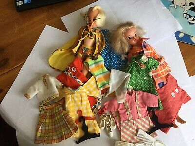2 Vintage Sindy dolls and Clothing and Shoe Bundle