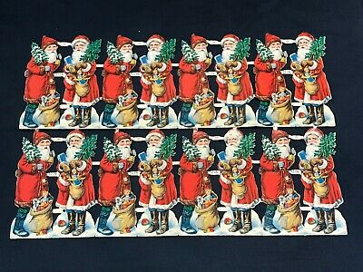 Sheet (16) PZB Zoecke Germany Die Cut Scraps Santa Clause Father Christmas 1214