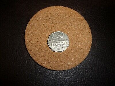 1985 Fifty Pence Isle of Man 50p Coin Christmas-De Haviland Rapide FREE UK POST