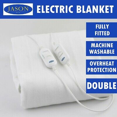 Jason Bedding Machine Washable Electric Blanket Heated Warm Fully Fitted DOUBLE