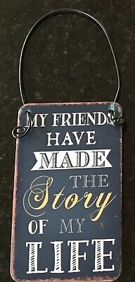 Black metal hanging plaque 8x5cm LG7 You Can't Beat The Good Old Days