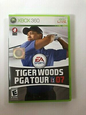 Tiger Woods PGA Tour 07 Microsoft Xbox 360 2006 CIB Complete Video Game Tested