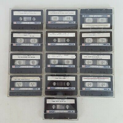 13 Used BASF CR-E II 90 min Audio Cassette Tapes IEC Type II