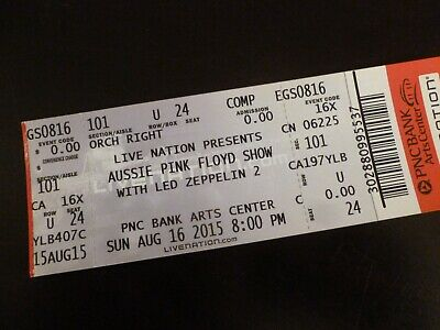 Aussie Pink Floyd Led Zeppelin 2 2015 Concert Ticket Stub PNC in NJ