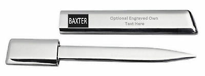 Engraved Letter Opener Optional Text Printed Name - Baxter