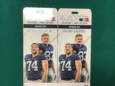 PENN STATE FOOTBALL CLUB SEAT VIP TICKETS  (2) vs Rutgers on 11/30/19 Undercover