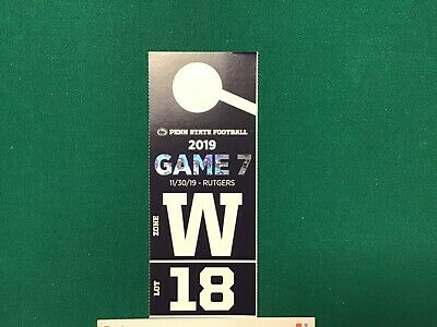 Penn State VIP Reserved Dedicated number Parking Pass vs Rutgers11/30/19 Lot 18