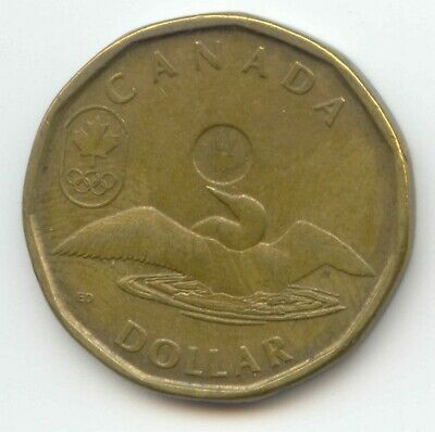 Canada 2012 Lucky Loonie Loon Olympic Commemorative Canadian One Dollar 1 $1
