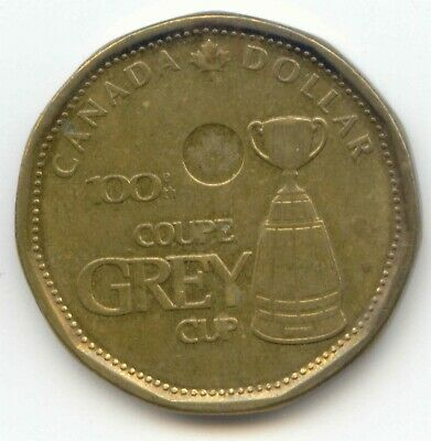 Canada 2012 100th Grey Cup Commemorative Loonie Canadian One Dollar 1 $1 CFL