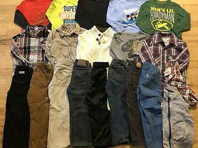 Back To School Boy Clothes 4T 5T Fall/Winter Clothes Outfit Lot 20 pieces.