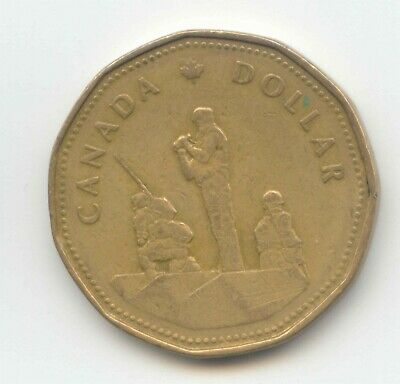 Canada 1995 Loonie Canadian One Dollar 1 Peacekeeping Monument $1 EXACT COIN