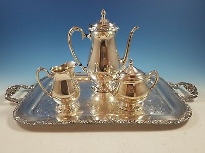 Henley Silverplate Oneida Community Ltd. Coffee or Tea Set w Tray