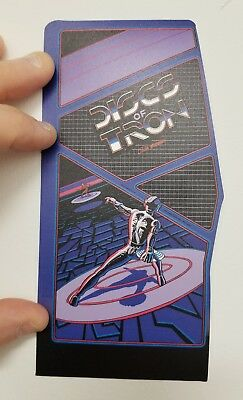 Discs of Tron contour cabinet sticker. 3.5 x 7. Buy 3 stickers, GET ONE FREE!