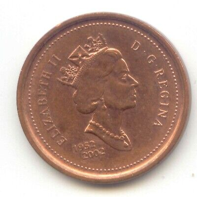 Canada 1952 - 2002 Penny Canadian 1 Cent Maple Leaf 1c EXACT COIN SHOWN ~