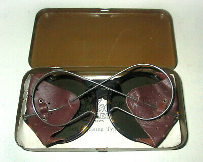 Antique Willson Tortoise Shell Sunglasses Goggles Old Retro Vintage Halloween W