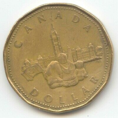 Canada 1867-1992 Parliament Loonie Canadian One Dollar 1 Coin $1 1992 EXACT COIN