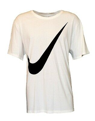 Nike Men's White No Pain No Power Swoosh Athletic Performance Gym Blue Shirt Men's Clothing Shirts