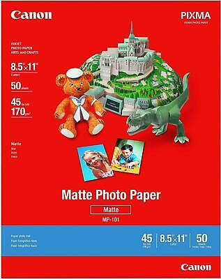 50 Sheets Canon Photo Paper Plus, Matte, 8-1/2 x 11