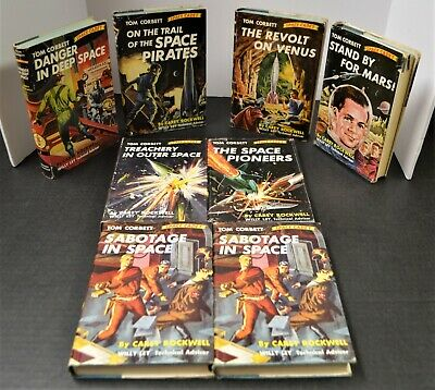 Classic Set of 8 Tom Corbett Space Cadet Science Fiction 1st Editions 1952-56