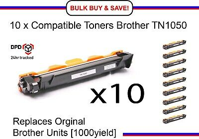 10 X Compatible Toner for Brother TN1050 DCP1510/1512 HL1110/1112 MFC1810