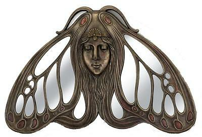 Veronese Bronze Figurine Art Nouveau Butterfly Wall or table Mirror Home Decor