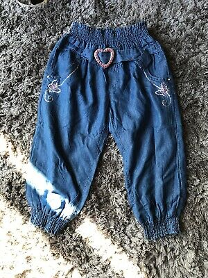 Girls Denim Summer Joggers Age 5 Years