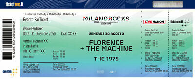 2 biglietti concerto 1975 and Florence+The Machine