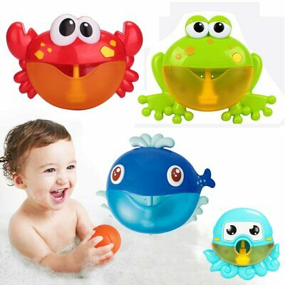 Dropshipping Bubble Machine Crabs Frog Music Kids Bath Toy Bathtub Soap