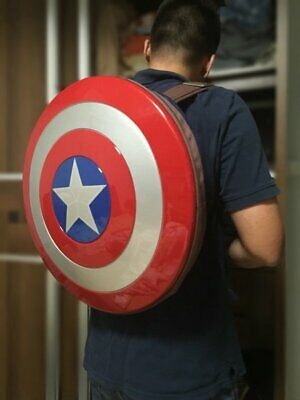 48CM Avengers Age of Ultron Captain America Hard Plastic Shield Backpack New