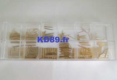 Assortment of 300 pins in brass for clocks and alarm clocks MADE IN GERMANY