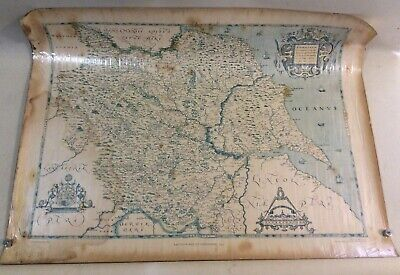 Rare 1981 Saxton's 1577 Map of Yorkshire