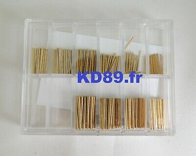 Assortment of 250 pins in steel for clocks and alarm clocks MADE IN GERMANY