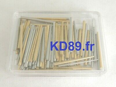 Assortment of 140 pins steel / brass for clocks and alarm clocks MADE IN GERMANY