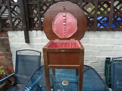 Small antique sewing box table  Collection only