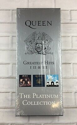 Queen - Greatest Hits I II & III (The Platinum Collection) CD & VHS Box Set -U.K