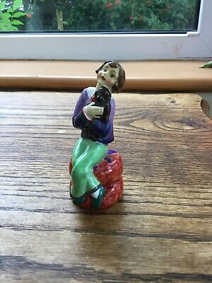 """Art Deco RARE Tuscan China Figurine c1930s """"Fidelity"""" No.46 Potted By Plant"""