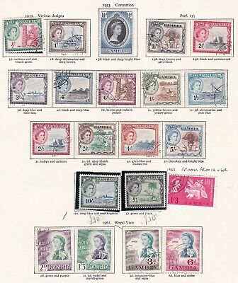 British Commonwealth. Gambia. 1953-1963  issues. Used