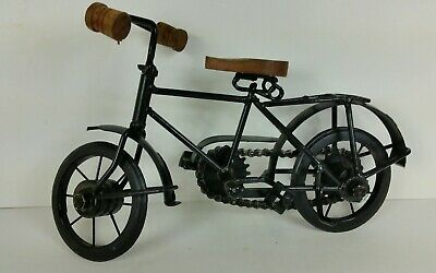 Vintage Rustic Doll Mini Tricycle Wood And Metal Excellent 4990