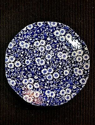 Staffordshire CALICO BLUE (CROWNFORD STAMP) Salad Plate LAST ONE