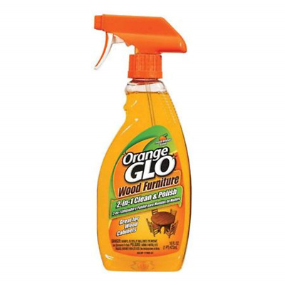 2 x Orange Glo Wood Furniture 2 in 1 cleaner and polish spray Bottles 473ml with