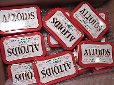 36 Altoids Empty Tin Containers, Each is 1.76 Oz. Size