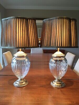 Pair of Vintage Laura Ashley Brass  Downton Abbey/French Rococo Style Lamps