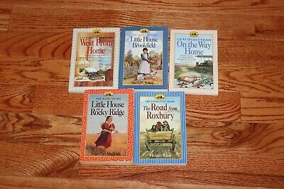 "Lot of 5 ""Little House"" books - Rose, Charlotte, Caroline, Letters and Diary"