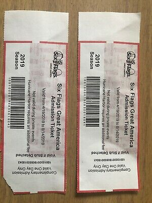 2 Tickets To Six Flags Great America - Valid Until 8/14/2019 $100 OBO