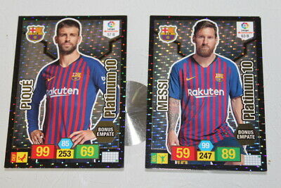 Cromos Platinum 10 Messi Pique Adrenalyn Panini Temporada 2018 2019 Liga